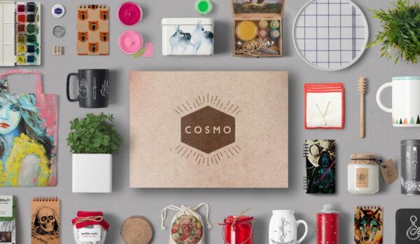 Capa - Caixa Cosmo: Receba todo mês Itens Criativos na sua Casa