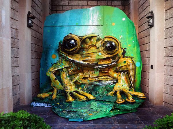 Capa - Artista português transforma lixo em arte urbana