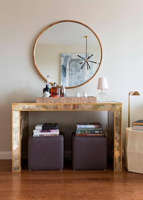 Espelhos decorativos crie efeitos fantásticos para sua casa -> Decoração De Sala De Jantar Com Espelho Redondo