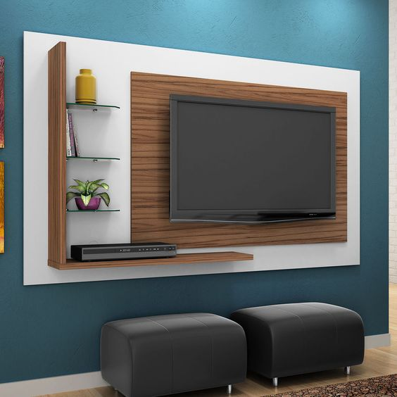 Rack ou painel de tv na sala - Television pequena plana ...