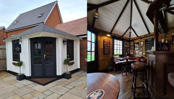 Capa - Decoração na quarentena: família cria um mini-pub no jardim