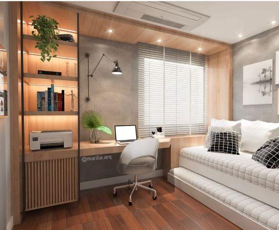 como fazer um home office no quarto