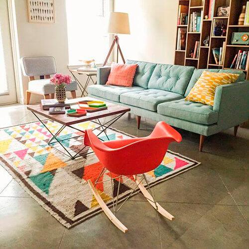decorar um apartamento alugado - estantes