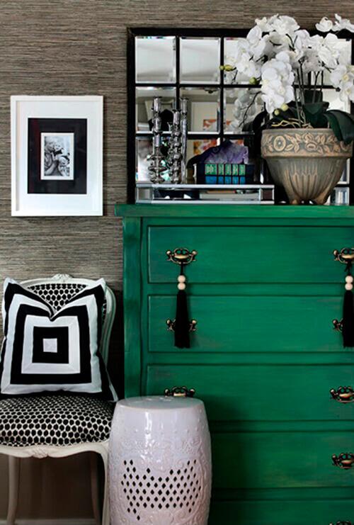 decorar um apartamento alugado - papel de parede com textura