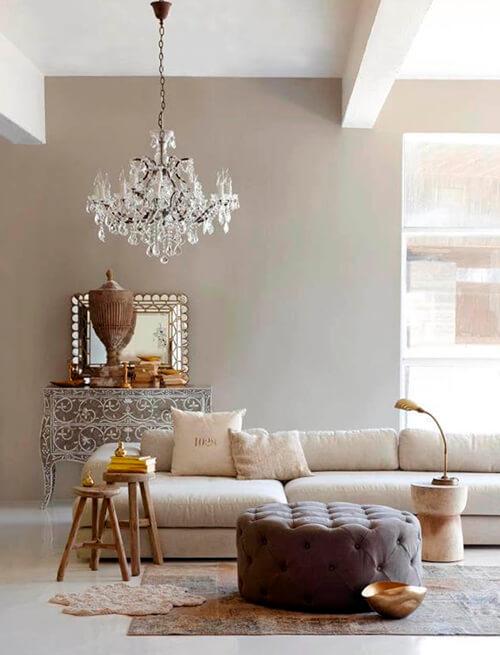 decorar um apartamento alugado - parede cinza