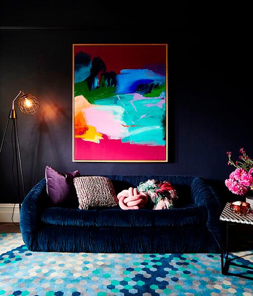 decorar um apartamento alugado - parede preta