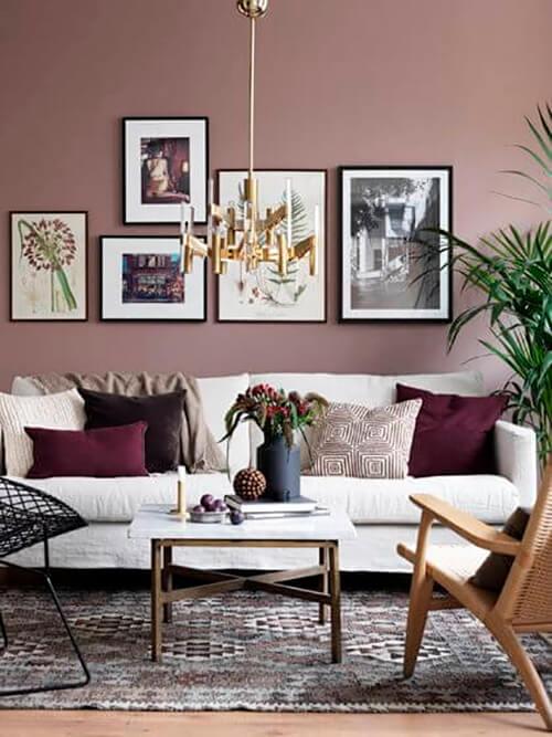 decorar um apartamento alugado - parede rosa