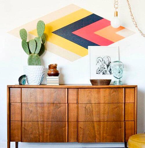 decorar um apartamento alugado - pintura de parede diy