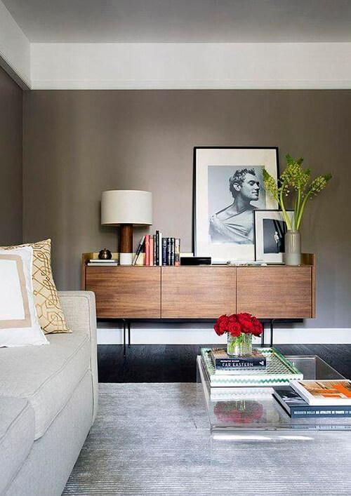decorar um apartamento alugado - tons terrosos