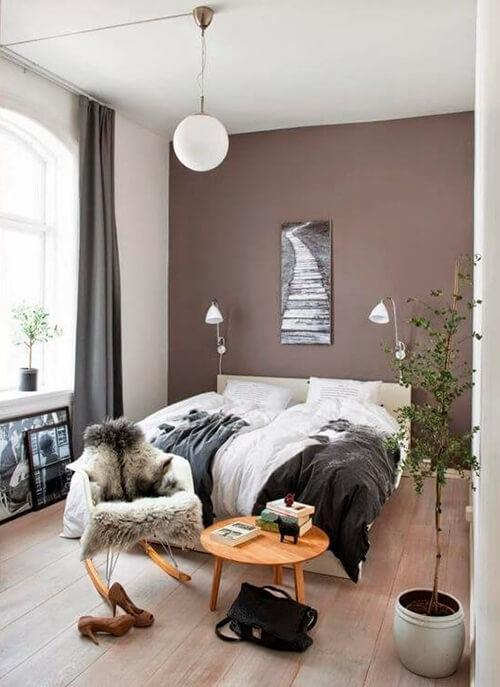 decorar um apartamento alugado - uma parede pintada