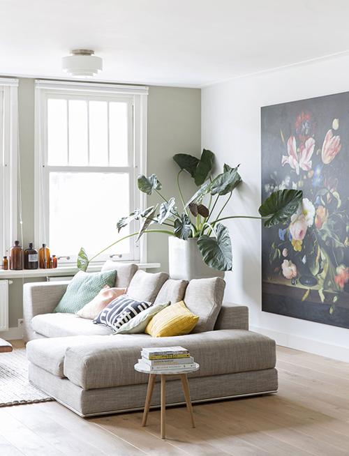 decorar uma apartamento alugado - folhagem em caso alto