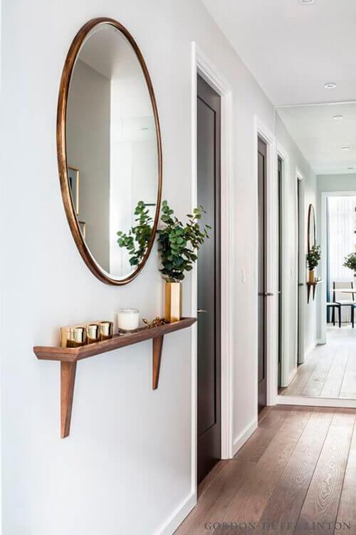decorar uma apartamento alugado - mini aparador com espelho