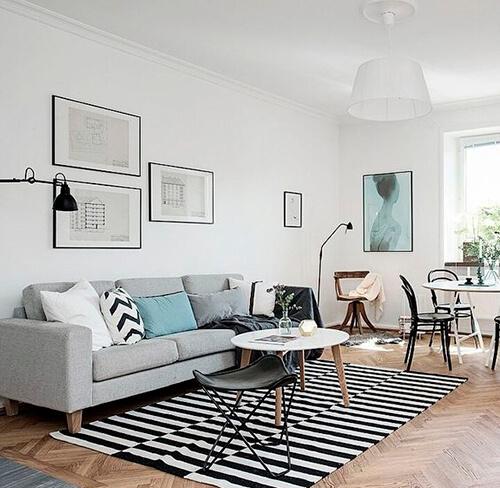 decorar uma apartamento alugado - trilho para iluminação