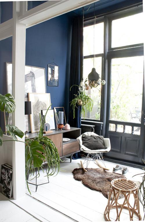 decorar uma apartamento alugado - use diversos tipos de folhagens