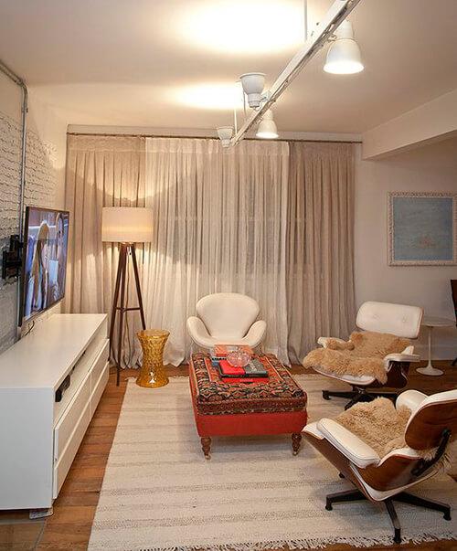 decorar uma apartamento alugado - use mais de uma fonte de luz