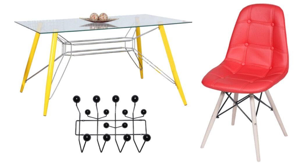 Mesa, Cabide e Cadeira