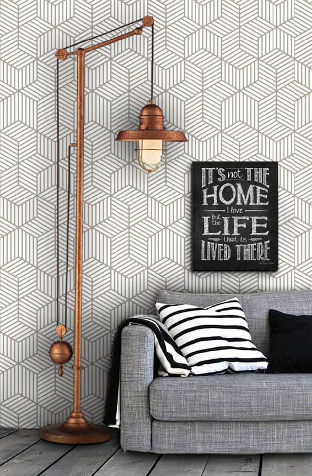 Componha a decoração da casa nova com papel de parede