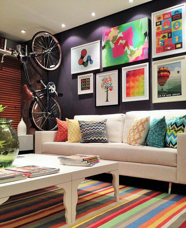 Casa colorida - móveis
