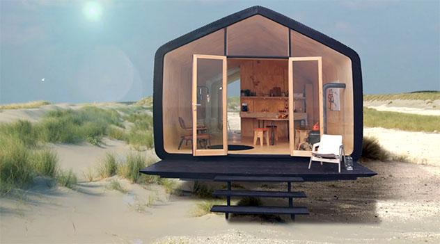 Wikkelhouse - a casa de papelão na praia