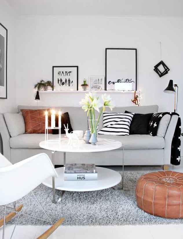 Decoração para sala de estar: cuide da disposição dos móveis