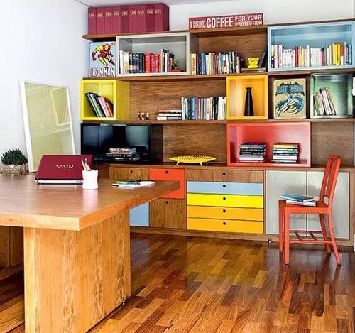 Decoração de escritório com cores