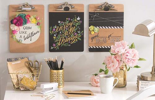 Objetos decorativos para o escritório