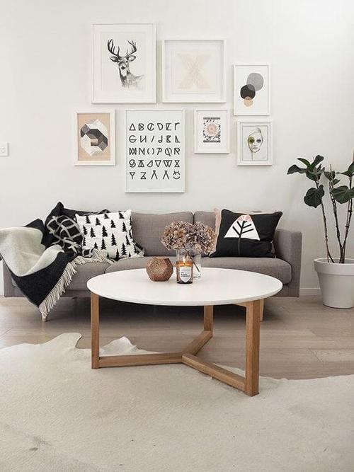 Decorar com amor - folhagem na sala de estar