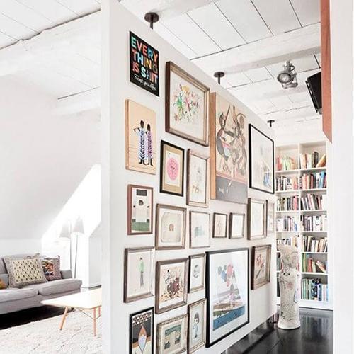 Decorar com amor - use as paredes do corredor