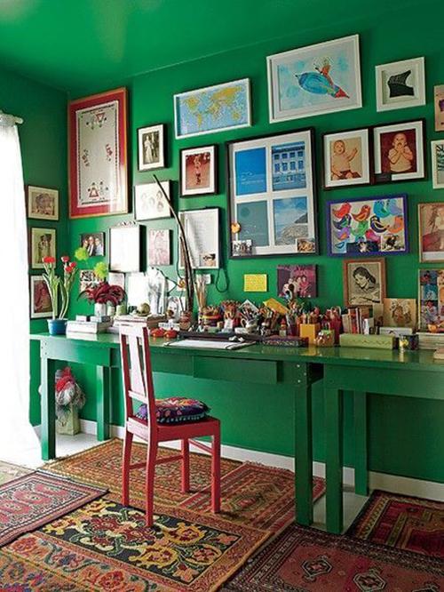 Decorar com amor - use as paredes do home office