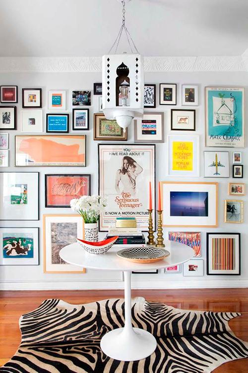 Decorar com amor - use as paredes para sua gallery wall