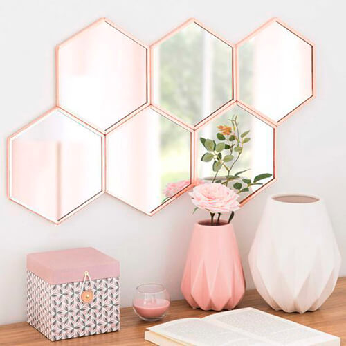 conjunto de espelhos decorativos