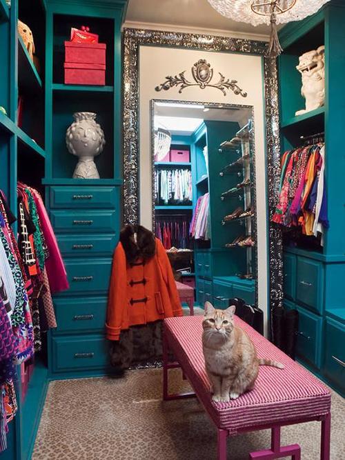 espelho decorativo no closet