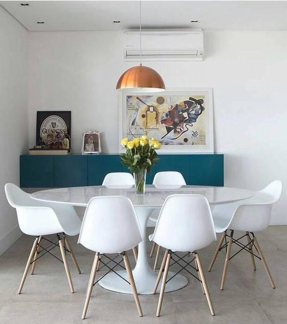 Sala de Jantar Retro com Saarinen