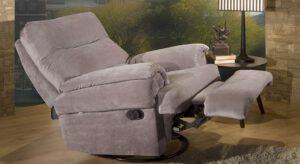 poltrona de leitura reclinavel bayart cinza