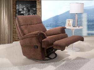 poltrona leitura papai bayart reclinavel marrom