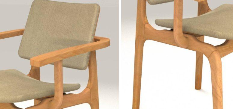Cadeiras para sala - cadeira de jantar berlin