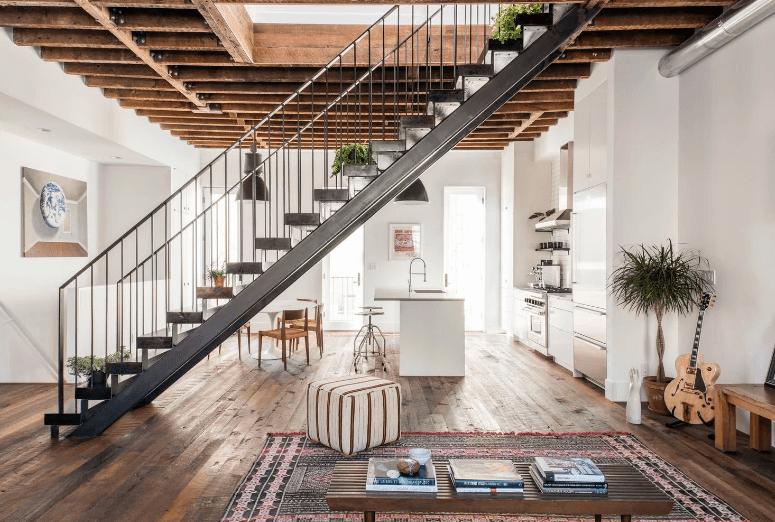 Ambientes Integrados - Mesa Saarinen - LIV Decora   Puff Quadrado