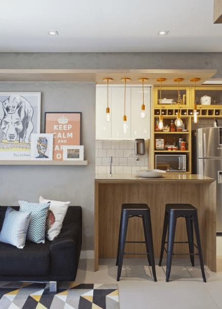 Ambientes Integrados - Cozinha e Sala