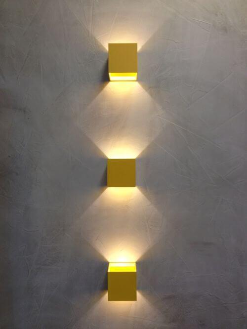 luminárias de parede - duplo efeito