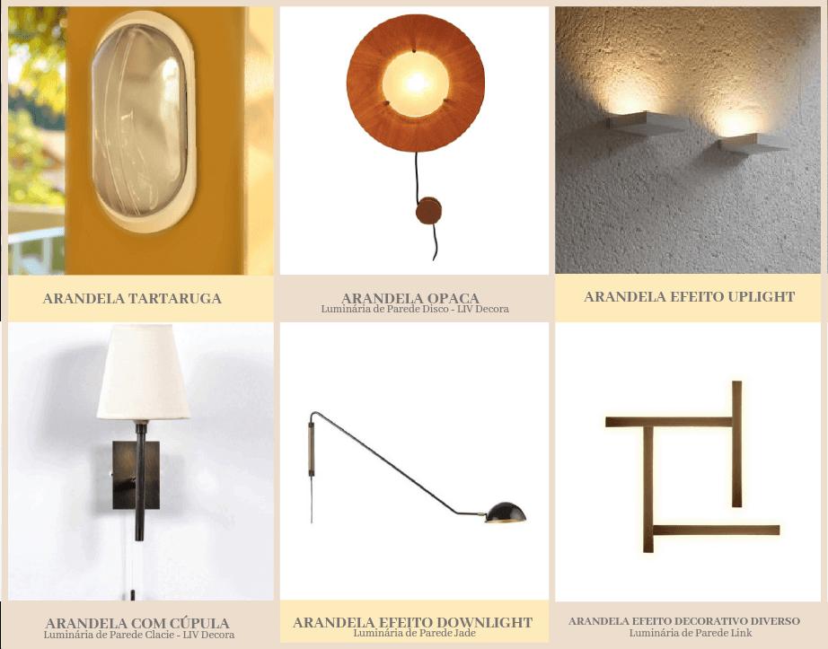 luminárias de parede - tipo de arandelas