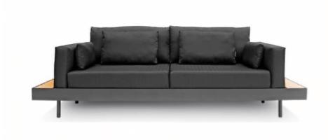 como decorar a área externa - sofá soho