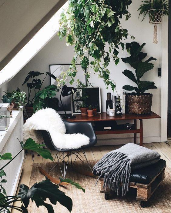 Estilo de decoração tropical com Cadeira DAR Wood Balanço - LIV Decora