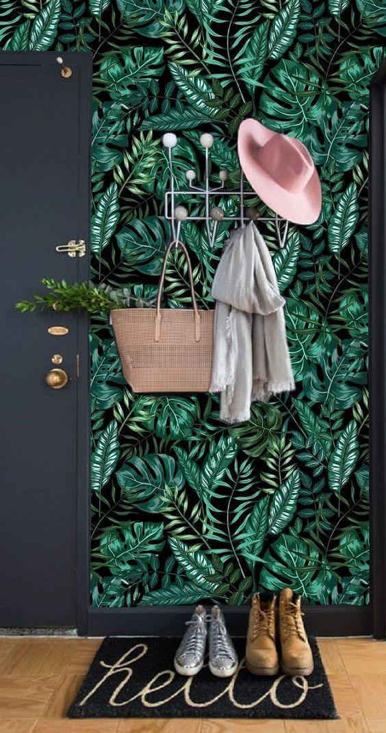 Estilo de decoração tropical com Cabideiro Eames - LIV Decora
