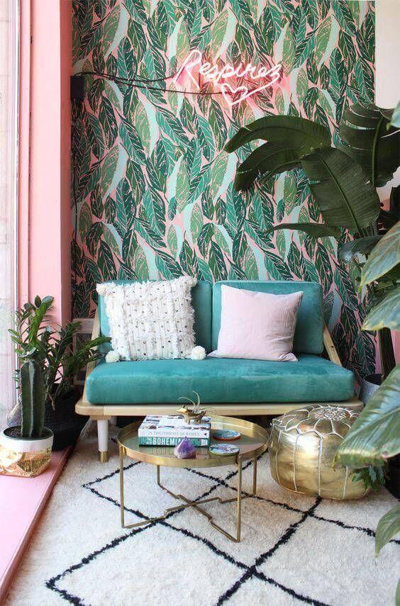 Estilo de decoração tropical com Mesa de Centro Gaya - LIV Decora