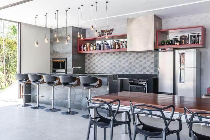 Estilo de decoração industrial com Banqueta Melnick e Cadeira Allegra – LIV Decora