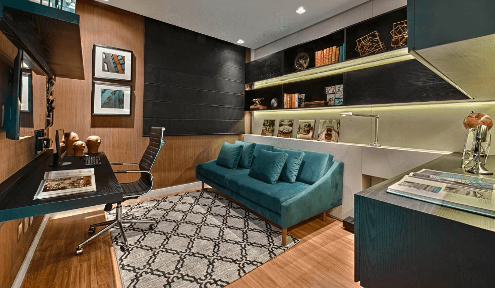 Home Office - Cadeira de Escritório Cromo