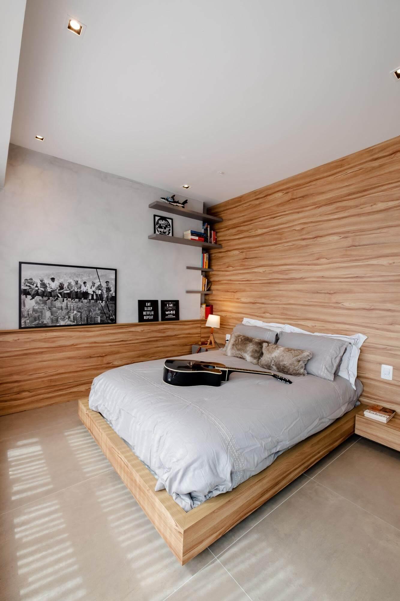 Apartamento pequeno - prateleiras decorativas