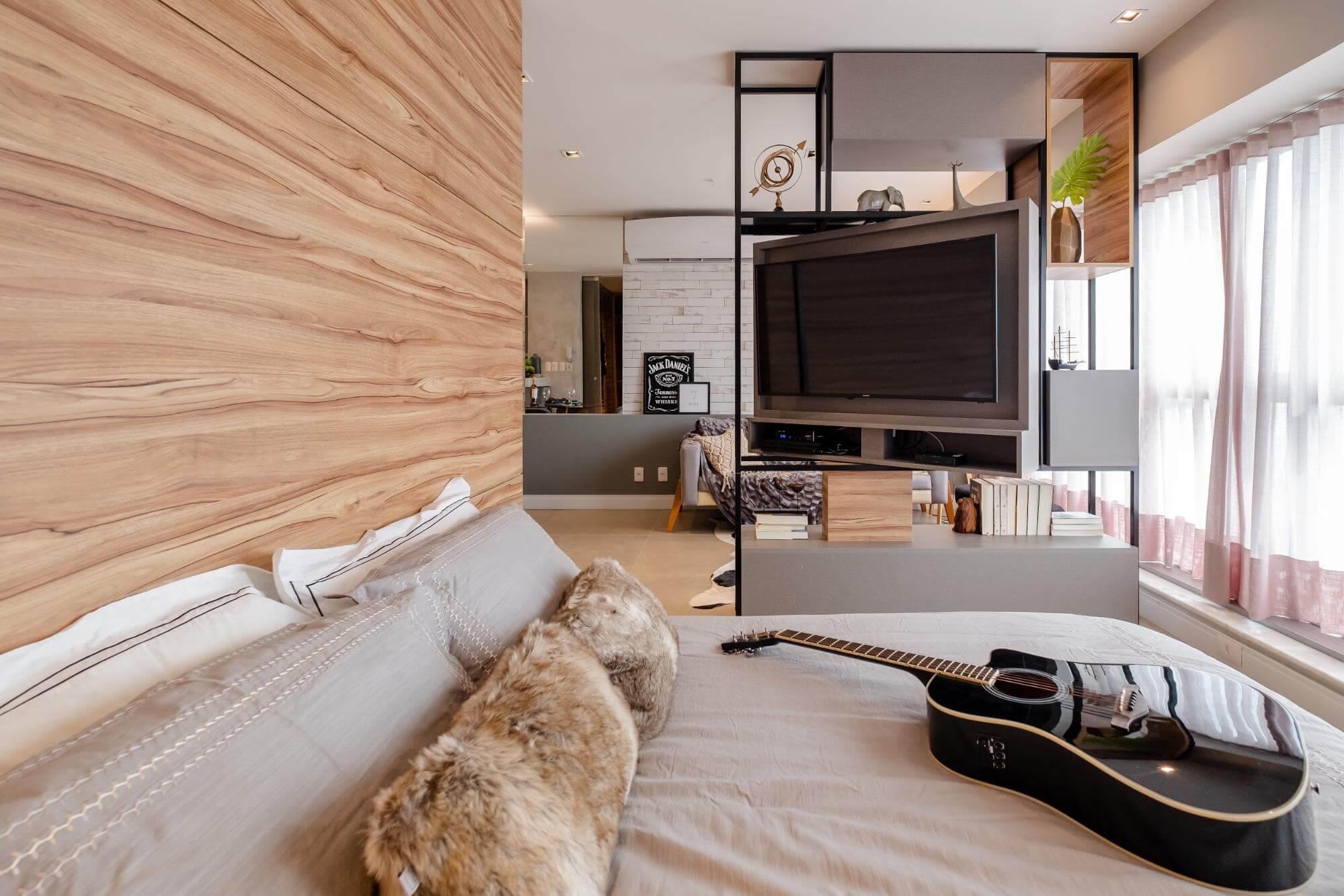 Apartamento pequeno - cortinas e tapetes
