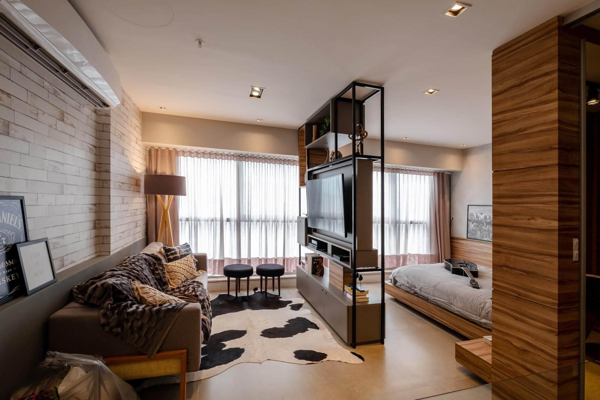 Apartamento pequeno - puffs