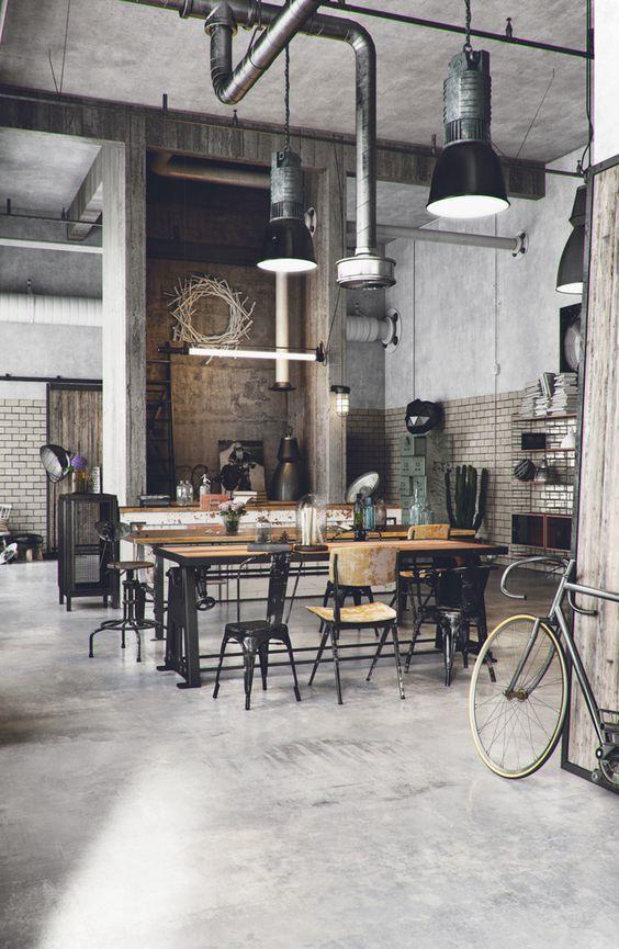 decoração loft industrial
